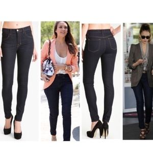 J Brand Maria High Rise Skinny Jeans in Starless